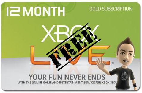 Free gold membership for xbox live codes 2011.